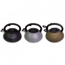 Чайник 3 л из нержавеющей стали со свистком Kamille 0855