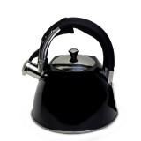 Чайник 3 л из нержавеющей стали со свистком Kamille 0697A (черный)