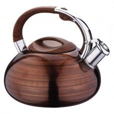 Чайник из нержавеющей стали со свистком 2.9 л Kamille 0682