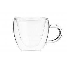 Набор чашек для латте 300 мл стекло с двойными стенками Ardesto 2630 GНL