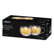 Набор чашек для латте 270 мл стекло с двойными стенками Ardesto AR2627GH