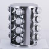 Набор емкостей для специй на круглой подставке 16 шт Kamille 7040
