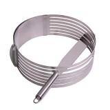 Форма для бисквита регулируемая 15-22 см с отверстием для нарезки и ножом Kamille 7788