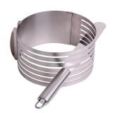 Форма для бисквита регулируемая 24.5-30 см с отверстием для нарезки и ножом Kamille 7789