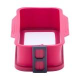 Форма для кекса разъемная силиконовая прямоугольная 27х13х6см со стеклянным дном Kamille 7758
