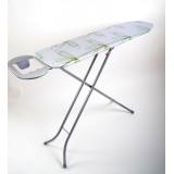 Гладильная доска 110х30 см (металический стол) с подставкой для утюга Eurogold 7997