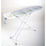 Гладильная доска 110х30 см (металический стол) с подставкой для утюга и розеткой Eurogold 8998