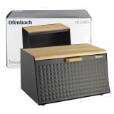 Хлебница 35.5 х 21.5 х 19.5 см из нержавеющей стали Ofenbach 100805 (черная)
