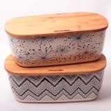 Хлебница 36х20.2х13.5см из бамбукового волокна с бамбуковой крышкой Kamille 1130
