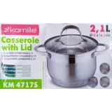 Кастрюля 2.1 л (16 см) из нержавеющей стали Kamille 4717S