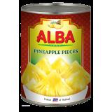 Ананасы кусочками в сиропе 580 мл Alba Food