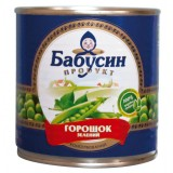 """Горошек консервированный """"Бабусин продукт"""" 420 г в жестяной банке ASP"""