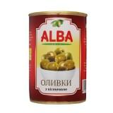 Оливки с косточкой 300 мл Alba Food