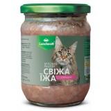 Мясной рацион Свежая Еда с уткой в нежном соусе 460 г для кошек Luncheon (467)
