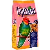 Полноценный корм для ожереловых попугаев, неразлучников, розелл, сенегалов и других средних попугаев 500 г Optima