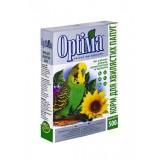 Полноценный корм с витаминами и минералами для волнистых попугаев, неразлучников, корелл и других мелких попугаев 500 г Optima (картон)