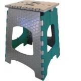 Стул пластиковый раскладной высотой 45 см Eurogold CT-001 зелено-серый