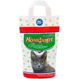 Гигиенический наполнитель комкующийся мелкий для кошачьего туалета 2.5 кг Комфорт Компакт Кедр