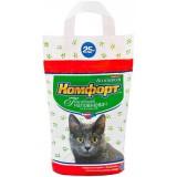 Гигиенический наполнитель комкующийся мелкий для кошачьего туалета 2.5 кг Комфорт Компакт Лаванда
