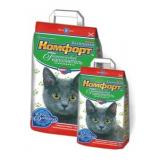 Гигиенический наполнитель комкующийся мелкий для кошачьего туалета 5 кг Комфорт Компакт без запаха