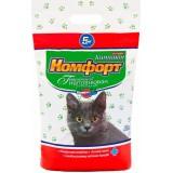 Гигиенический наполнитель комкующийся мелкий для кошачьего туалета 5 кг Комфорт Компакт Лаванда