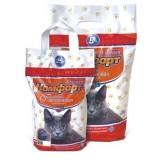 Гигиенический наполнитель комкующийся средний для кошачьего туалета 2.5 кг Комфорт Эконом Лаванда