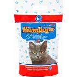 Гигиенический наполнитель поглощающий крупный для кошачьего туалета 5 кг Комфорт Универсал без запаха
