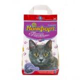 Гигиенический наполнитель комкующийся мелкий для кошачьего туалета 5 кг Комфорт Ультра Лаванда