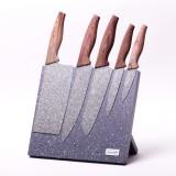 Набор кухонных ножей на акриловой подставке 6 предметов Kamille 5047