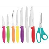 Набор ножей цветных 8 предметов Tramontina Plenus 23498/917