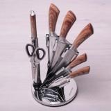 Набор ножей, ножницы, мусат на подставке 8 предметов Kamille 5048