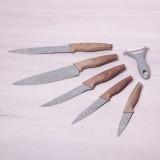 Набор ножей с овощечисткой 6 предметов Kamille 5043