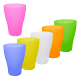 Набор стаканов пластиковых 0.5 л 6 шт Алеана 167207 матовых