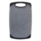 Доска разделочная 15х25 см пластиковая Kamille 10057 (серый мрамор)