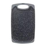 Доска разделочная 15х25х0.8 см пластиковая Kamille 10057A (серый мрамор)