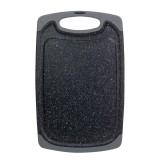 Доска разделочная 31.5х20х0.8 см пластиковая Kamille 10058A (серый мрамор)