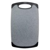 Доска разделочная 40х24 см пластиковая Kamille 10059 (серый мрамор)