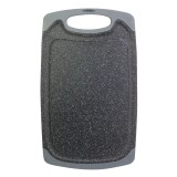 Доска разделочная 40х24х0.8 см пластиковая Kamille 10059A (серый мрамор)