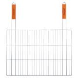 Решетка для гриля плоская 61х54х38см с 2-мя деревянными ручками Скаут 0739