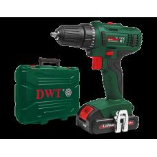 Шуруповерт аккумуляторный DWT ABS-18 L-2 BMC