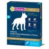 Капли на холку инсектоакарицидные для крупных пород собак Vitomax Gold ВСКС-1000