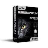Капли для кошек от блох и клещей на холку 0-4 кг (имидаклоприд)/10 premium Unicum UN-004