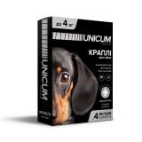 Капли для собак от блох и клещей на холку 0-4 кг (имидаклоприд)/10 premium Unicum UN-006