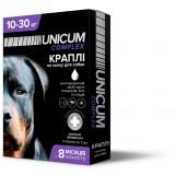 Капли для собак 10-30 кг от блох, клещей и гельминтов на холку Unicum premium UN-033 (4 пипетки)