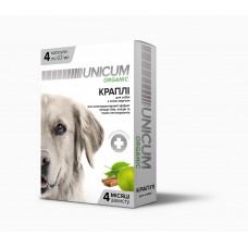 Капли для собак на натуральной основе для отпугивания блох и клещей Unicum Organic (4 капсулы) UN-026