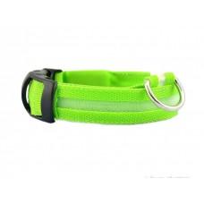 Ошейник светодиодный ширина 2.5 см (48-60 см) L Fox LED-L GREEN (зеленый)