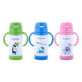 Термобутылка для детей 350 мл из нержавеющей стали с двумя ручками Kamille 2085