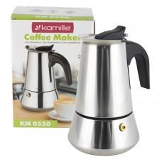 Кофеварка гейзерная 200 мл из нержавеющей стали Kamille 0550