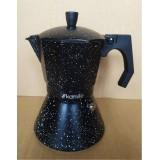 Кофеварка 150 мл алюминиевая гейзерная с индукционным дном Kamille 2511MR (черный мрамор)