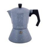 Кофеварка 300 мл алюминиевая гейзерная с широким индукционным дном Kamille 2517GR (серый мрамор)